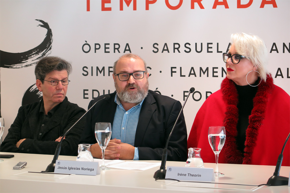 Iglesias (director artístico),  Carsen (director escena), y Theorin (Elektra)./(P.V.)