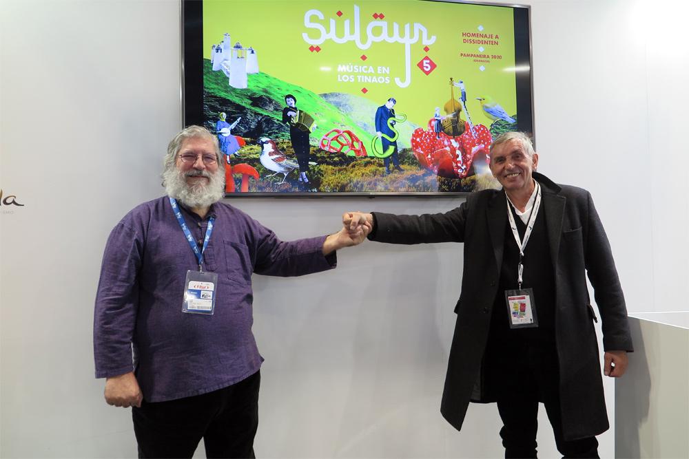 Uve Müllrich, Dissidenten, y José Miguel López (Discopolis, Radio 3)./ (Paco Valiente)