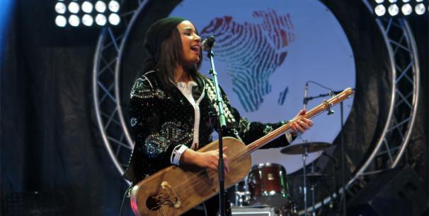 Asmâa Hamzaoui en la 5ª edición de Visa For Music, noviembre de 2018 en Rabat./ (Paco Valiente)