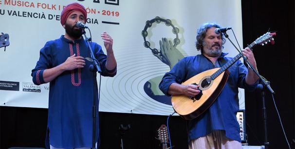 José Maria Cala y José Cabral, de La Banda Morisca, en Etnomusic 2019./ (Paco Valiente)