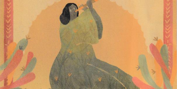 Ana Suárez firma la ilustración en la portada del nuevo disco de La Banda Morisca, 'Gitana Mora' (2020)