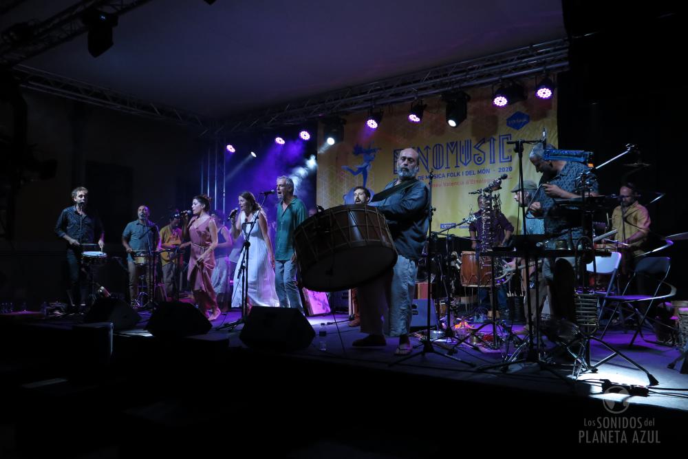 Coetus, la orquesta de percusión ibérica liberada por Aleix Tobias./ (P. V.)